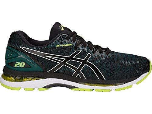 more photos 7640f f749c ASICS Gel-Nimbus 20 Men's Running Shoe, Black/Neon Lime, 12 ...